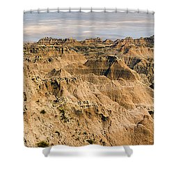Shower Curtain featuring the photograph  Badlands South Dakota by John Hix