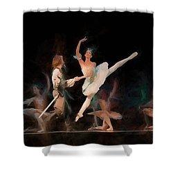 Ballerina  Shower Curtain by Louis Ferreira