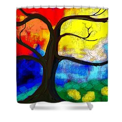 Before The Bloom Shower Curtain by Patricia Arroyo