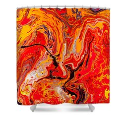 Belly Dancers - Abstract Colorful Mixed Media Painting Shower Curtain