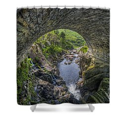 Benglog Waterfall Shower Curtain by Ian Mitchell