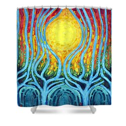 Births Of Day Shower Curtain by Wojtek Kowalski