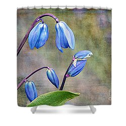 Bluebells And Beyond Shower Curtain