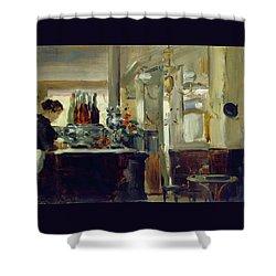 Bon Bock Cafe Shower Curtain