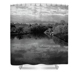 Boyne River Shower Curtain by Martina Fagan