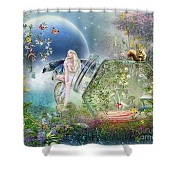Butterfly Fairy Shower Curtain by Trudi Simmonds