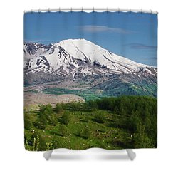 Castle Lake And Mt. St. Helens Shower Curtain