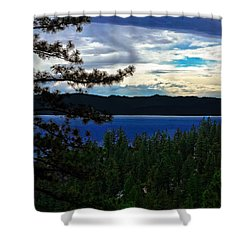 Chrystal Blue Waters Shower Curtain by B Wayne Mullins