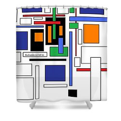 City Colors 3 Shower Curtain by B L Qualls