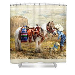 Cowboy Up Shower Curtain