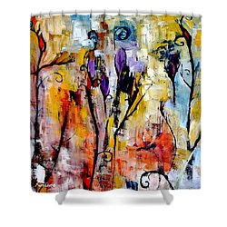 Crazy Messy Fall Yard Art Shower Curtain by Lisa Kaiser