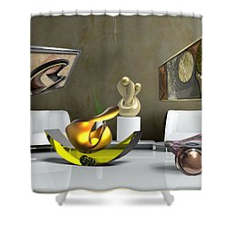 ' Cubrssrs - Tubehumanseedlings - Ball Box Intrigue - Kyscopic Table - Pearl ' Shower Curtain