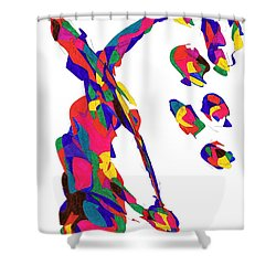 Definism Grind Shower Curtain by Darrell Black