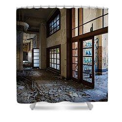 Demolished School Building- Urban Exploration Shower Curtain by Dirk Ercken