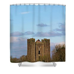 Dunsoghly Castle Shower Curtain by Martina Fagan