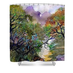 Earth And Water Shower Curtain