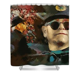 Elton John Shower Curtain by Sergey Lukashin