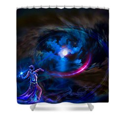 Entrancing The Mystical Moon Shower Curtain