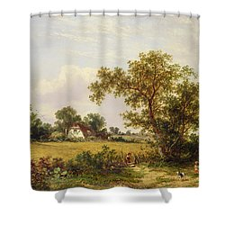 Essex Landscape  Shower Curtain by James Edwin Meadows