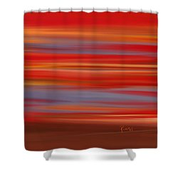 Shower Curtain featuring the digital art  Evening In Ottawa Valley by Rabi Khan
