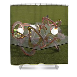 ' Every Which Way From Never ' Shower Curtain