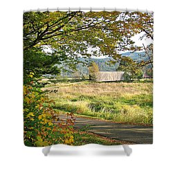 Fall At Grays River Covered Bridge Shower Curtain