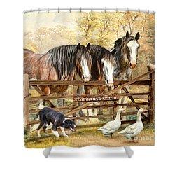 Featherwell Farm Shower Curtain