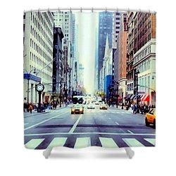 Fifth Avenue In Manhattan  Shower Curtain