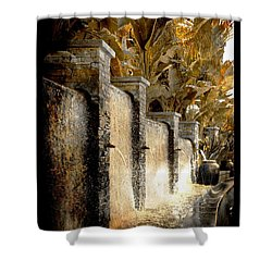 Shower Curtain featuring the photograph   Flowing Waterfall  by Athala Carole Bruckner