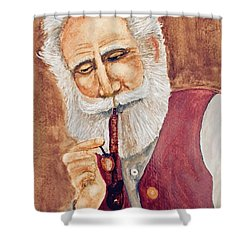 German With Pipe No. 2 Shower Curtain