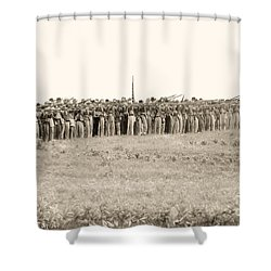 Gettysburg Confederate Infantry 0157s Shower Curtain