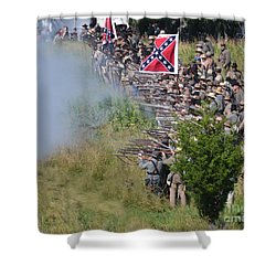 Gettysburg Confederate Infantry 8769c Shower Curtain