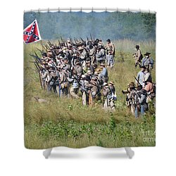 Gettysburg Confederate Infantry 9015c Shower Curtain