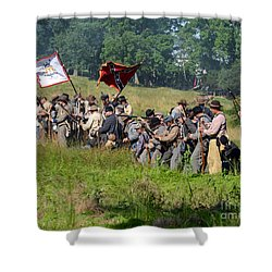 Gettysburg Confederate Infantry 9281c Shower Curtain