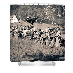 Gettysburg Confederate Infantry 9281s Shower Curtain