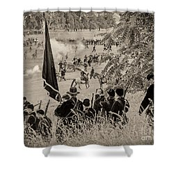 Gettysburg Union Artillery And Infantry 7459s Shower Curtain