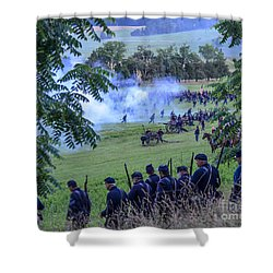 Gettysburg Union Artillery And Infantry 7465c Shower Curtain