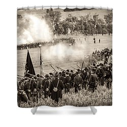 Gettysburg Union Artillery And Infantry 7496s Shower Curtain