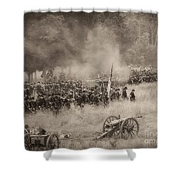 Gettysburg Union Artillery And Infantry 8456s Shower Curtain