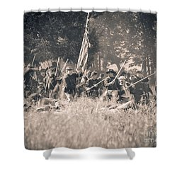 Gettysburg Union Infantry 9348s Shower Curtain