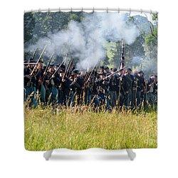 Gettysburg Union Infantry 9360c Shower Curtain