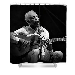 Gilberto Gil   Black And White Shower Curtain
