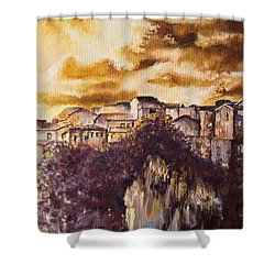 Golden Lights Shower Curtain