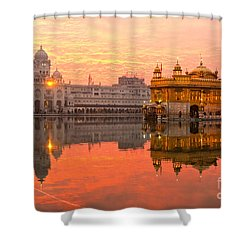 Golden Temple Shower Curtain by Luciano Mortula