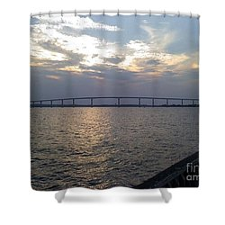 Gov Thomas Johnson Bridge Shower Curtain