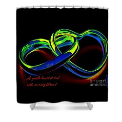 Heart Rings Shower Curtain