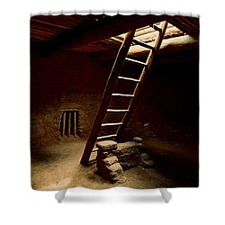 House Of Reflection And Prayer Shower Curtain