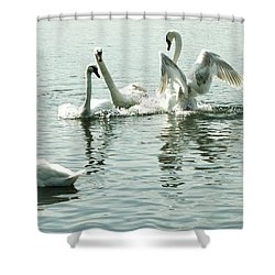 I Think He Means It..... This Time........ Shower Curtain by Martina Fagan