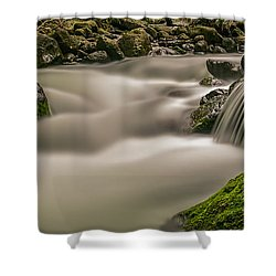 Iao Stream In The Iao Valley State Park Shower Curtain
