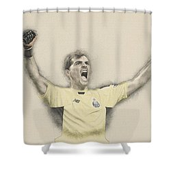 Iker Casillas  Shower Curtain by Don Kuing